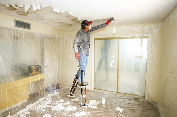 How To Remove Popcorn Ceilings Stretch Fabric