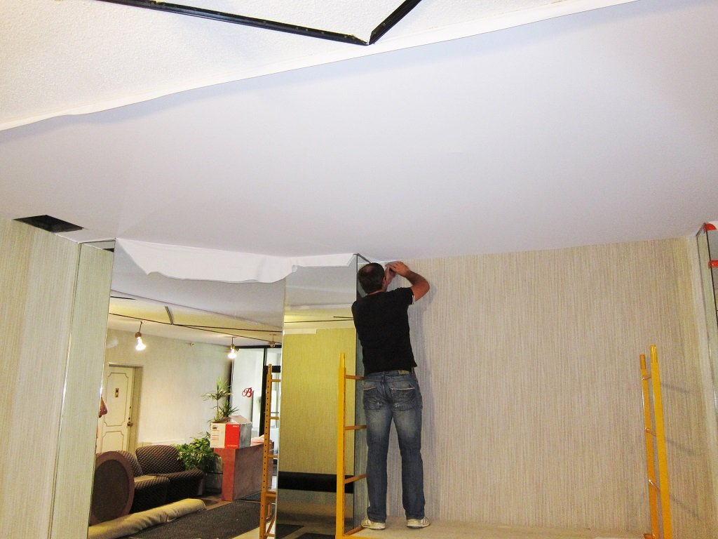 How to remove popcorn ceilings stretch fabric ceilings for Is there asbestos in old drywall
