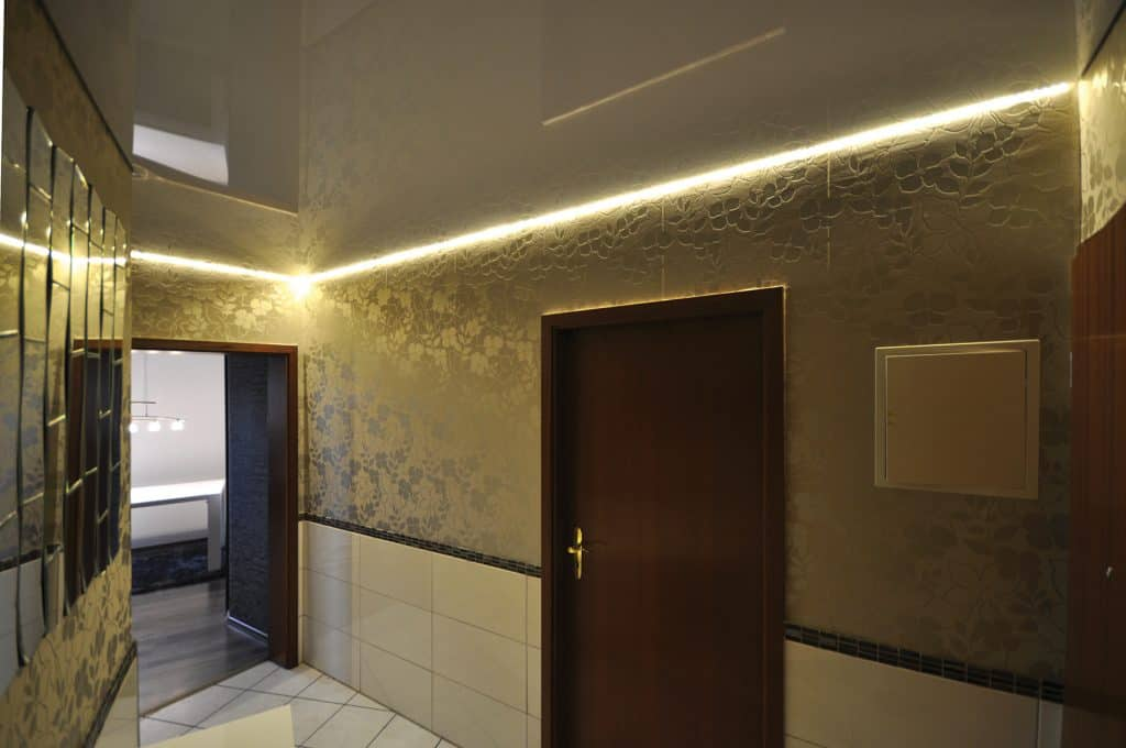 Chose from a wide range of colors and fabric types, modern linear LED & crown lighting options