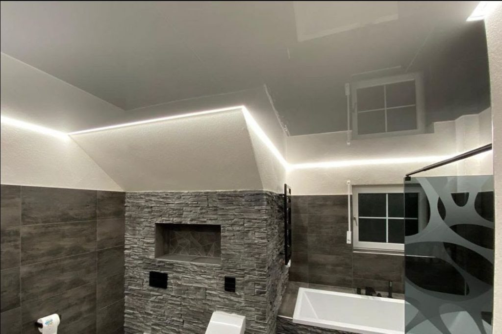 track lighting system in bathroom 2